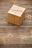 Wrapped packaged box — Stock Photo