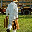 Beekeeper at work — Stockfoto