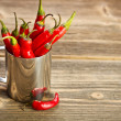 Peppers bunch in cup — Stock Photo