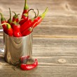 Stock Photo: Peppers bunch in cup