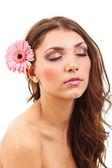 Retrato de mujer bella joven — Foto de Stock