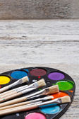 Brush and paints — Stock Photo