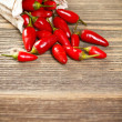 Red peppers in bag — Foto de Stock