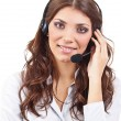 Operator business woman — Stock Photo