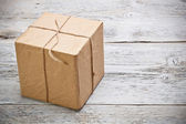 Wrapped gift box — Stock Photo