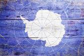 国旗的南极洲 — 图库照片