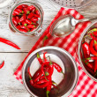 Red peppers — Stock Photo