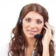 Woman with headset — Stock Photo #14181509
