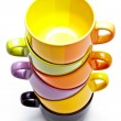 Color cups tower — Stock Photo #14340161