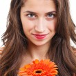 Woman with flower — Stock Photo #14591739