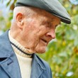 Foto Stock: Profile of old man