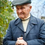 Old man portrait — Stock Photo