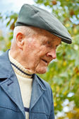 Profile of an old man — Stock Photo