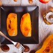 Foto Stock: Baked pumpkin slices