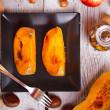焼きカボチャのスライス — ストック写真