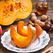 Pumpkin slices — Stock Photo