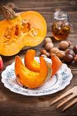 Pumpkin slices — Stock Photo