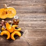 Baked pumpkin slices — Stock Photo