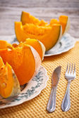 Pieces of pumpkin — Stock Photo