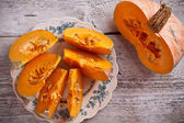 Fresh pumpkin slice — 图库照片