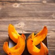 Stock Photo: Roasted pumpkin slices