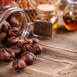 Stockfoto: Sweet roasted chestnuts