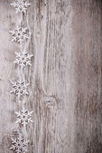 Artificial snowflakes — Stock Photo