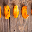 Royalty-Free Stock Photo: Roasted pumpkin slices