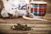 Dry green tea — Stock Photo