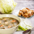 Lettuce soup — Stock Photo