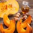 Baked pumpkin slices — Stockfoto