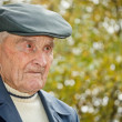 Senior man with hat — Stock Photo