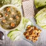Lettuce soup — Stock Photo #16223395