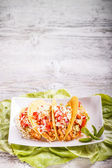 Tacos with chicken — Stockfoto