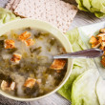 Lettuce soup — Stock Photo #16963989