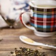 Dry green tea — Stock Photo