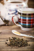 Dry green tea — Fotografia Stock