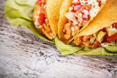 Tacos with chicken — Stock Photo