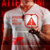 Virus alert — Stock Photo