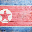 Flag of North Korea - Stock Photo