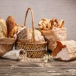 Stock Photo: Composition with bread and rolls