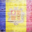 Flag of Andorra — Foto Stock
