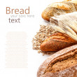 Bread from rye and wheat flour — Stock Photo