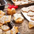 Varoius homemade gingerbread — Stock Photo