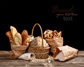 Bread still life — Stock Photo