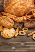 Tasty breads — Stock Photo