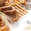 Composition with bread — Stock Photo