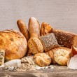Different kinds of fresh bread — Stock Photo