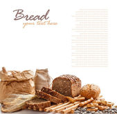 Samenstelling met brood — Stockfoto