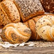 Stock Photo: Different types of bread